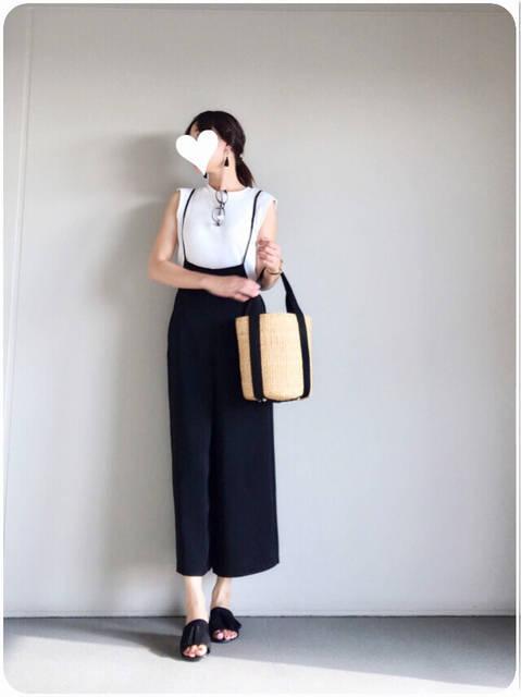 【GU】絶対買いなGU新作サロペットでモノトーンコーデ | yu-co's CLOSET~プチプラで♡きれいめカジュアルな毎日ママコーデ (100969)