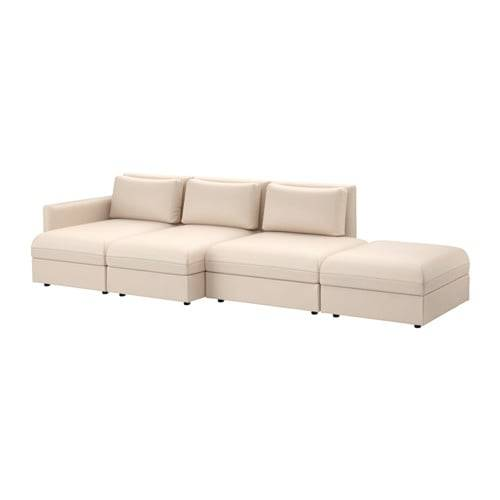 VALLENTUNA ヴァレントゥナ 4人掛けソファ - ムールム ベージュ  - IKEA (101022)