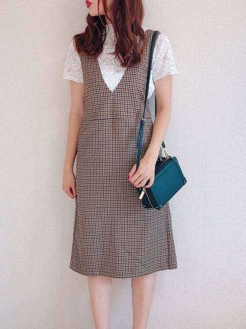 maki|GUのジャンパースカートを使ったコーディネート - WEAR (101102)
