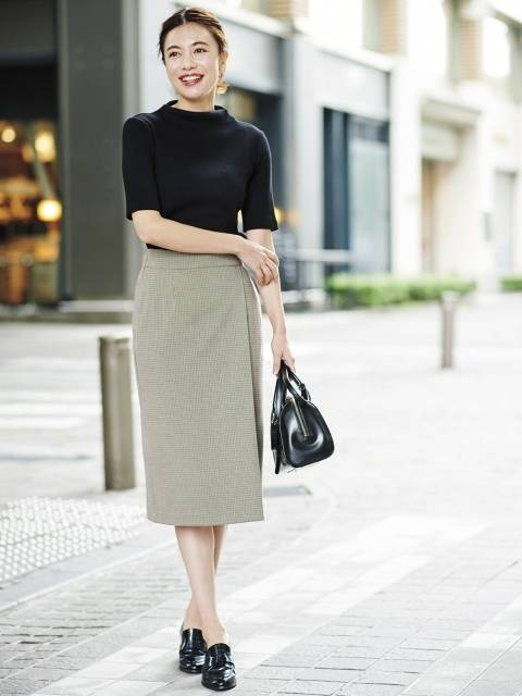 ユニクロ|チェックナロースカート(ハイウエスト・丈標準71~74cm)|WOMEN(レディース)|公式オンラインストア(通販サイト) (101826)
