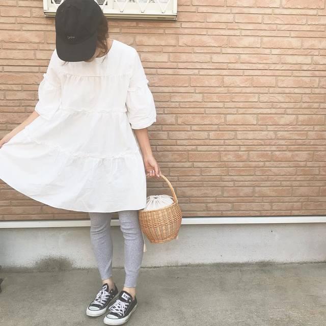 "hana on Instagram: ""ミニワンピ¨̮♡  全体的にフワッとするのがめちゃくちゃ可愛い♡♡   ワンピース→@pichi__official    #coordinate #ootd #fashion #outfit #instafashion #夏コーデ #大人ガーリー…"" (102581)"
