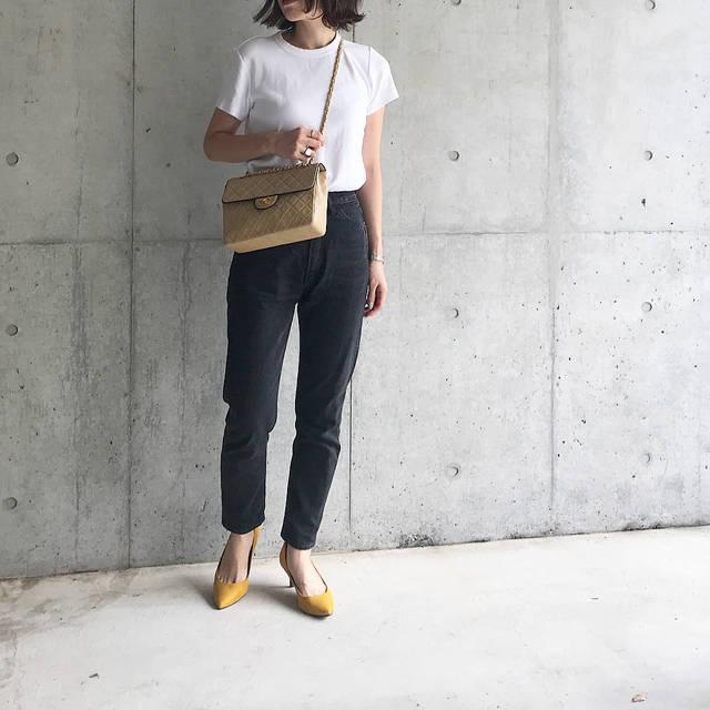 """ayako on Instagram: """"𓇬𓇬𓇬 シンプルコーデにカラーパンプス💛 ヒールが久しぶりすぎて痛くならないか心配だったけど、GUのパンプスふかふかな履き心地ですごい‼︎😳✨ ・ #gu_for_all#gupr#ポインテッドパンプス#マシュマロパンプス #aya__m_code…"""" (103702)"""