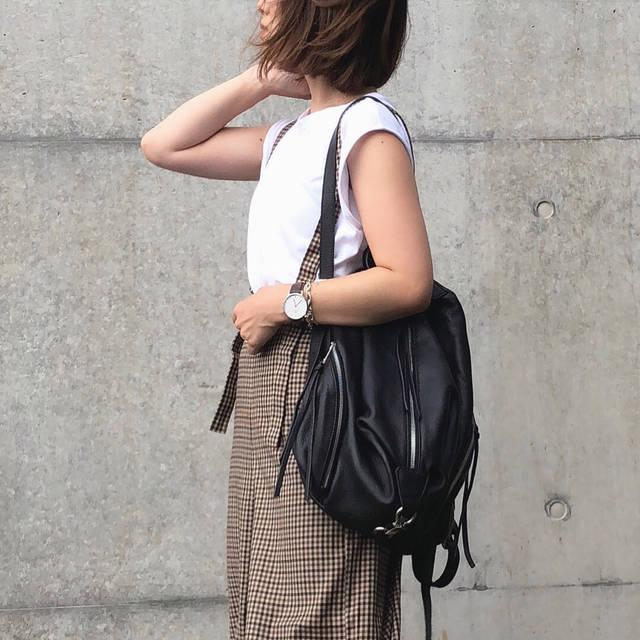 "♡♡♡ on Instagram: ""* @gu_global のサス付きパンツが可愛い👖 好きな感じのやつです👌🏻 #code tee @bshop_official #handvaerk pants @gu_for_all_ →#サス付きワイドパンツ shoes @converse_jp bag…"" (104048)"