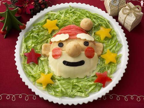 サンタクロースのポテトサラダ|とっておきレシピ|キユーピー (108485)