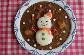 クリスマスに♪雪だるまサンタのデコカレー by 子供と作るウチご飯 【クックパッド】 簡単おいしいみんなのレシピが297万品 (108498)