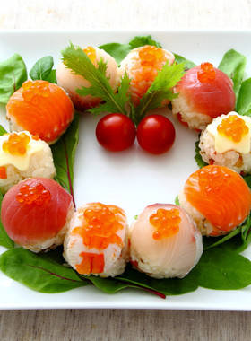 クリスマス☆リースの手まり寿司 by イオン 【クックパッド】 簡単おいしいみんなのレシピが297万品 (108502)