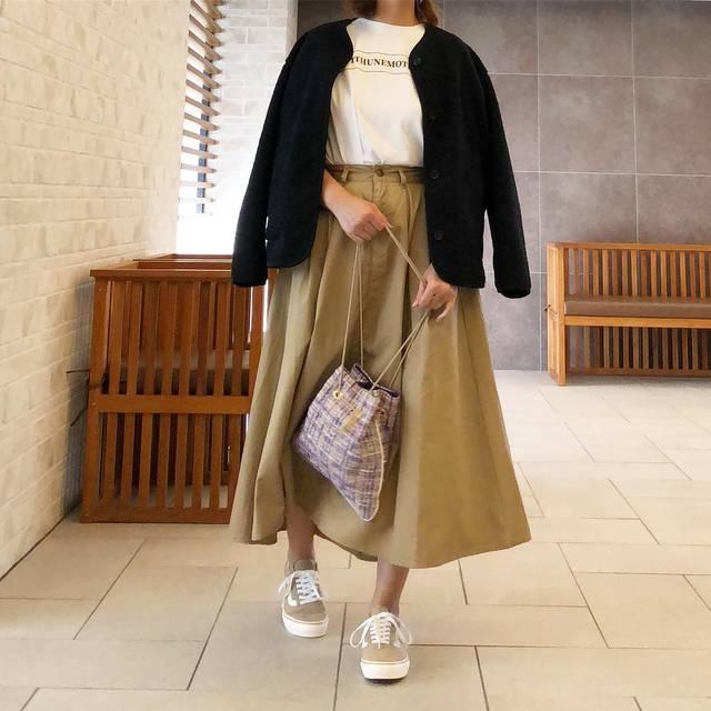 """a_y_n on Instagram: """"..ユニクロの#フリースノーカラージャケット#ユニクロ #uniqloコーデ #プチプラ #プチプラコーデ #ママファッション #ママコーデ #高身長コーデ #高身長ファッション #高身長ママファッション #高身長ママ #vansoldskool"""" (109207)"""