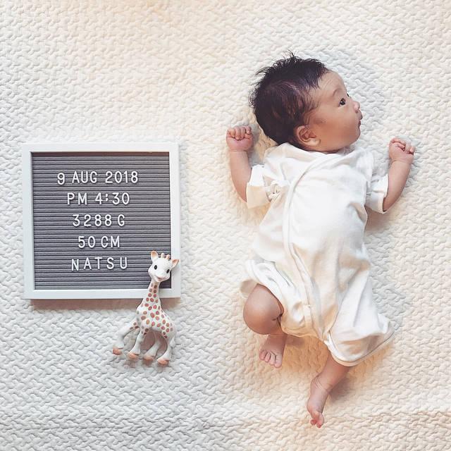 """Akiko on Instagram: """"・ 2018.09.09 ・ 1month🕊 ・ 生まれてから1ヶ月、本当にあっという間… 新生児終わっちゃって寂しいけど、 1ヶ月元気に成長してくれてなにより。 ・ 昨日はお義父さん、お義母さん、義弟familyも 夏に会いに来てくれて 賑やかで楽しい1日でした☺︎ ・…"""" (110001)"""