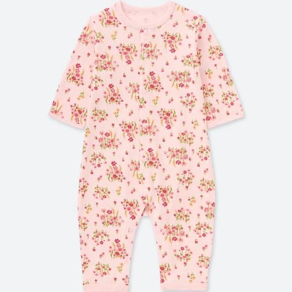 ユニクロ|フライスカバーオール(フラワー・長袖)|BABY(赤ちゃん服)|公式オンラインストア(通販サイト) (110023)