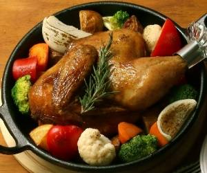秋川牧園 なごみ赤鶏ローストチキン半身,なごみ赤鶏ローストチキン半身,ムソークリスマス (111606)