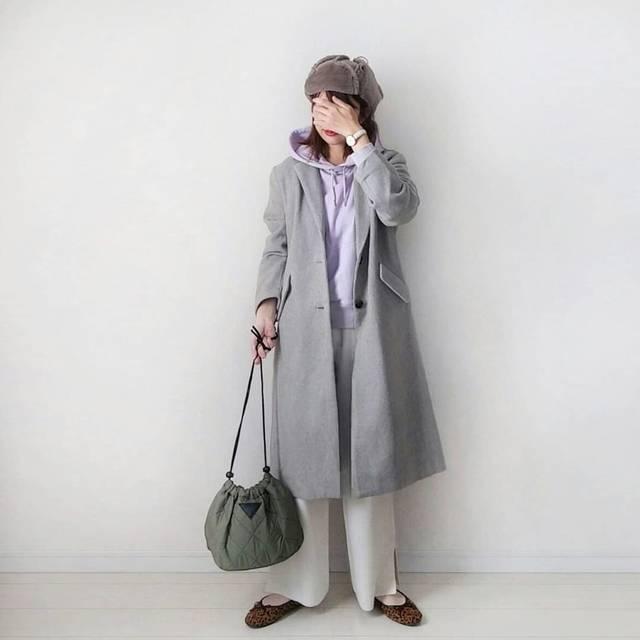 """★natsu★ on Instagram: """"outfit . @fifth_store さんの#ロングチェスターコート ❤ 形も丈もすごく好み✨✨ 今なら40%OFFクーポン出てます🙌 . コートの下は上下GU💗💗 . 淡い色のコーデの時はぼやけた印象にならないように、インパクトのある小物を選びます☺ . .…"""" (113994)"""