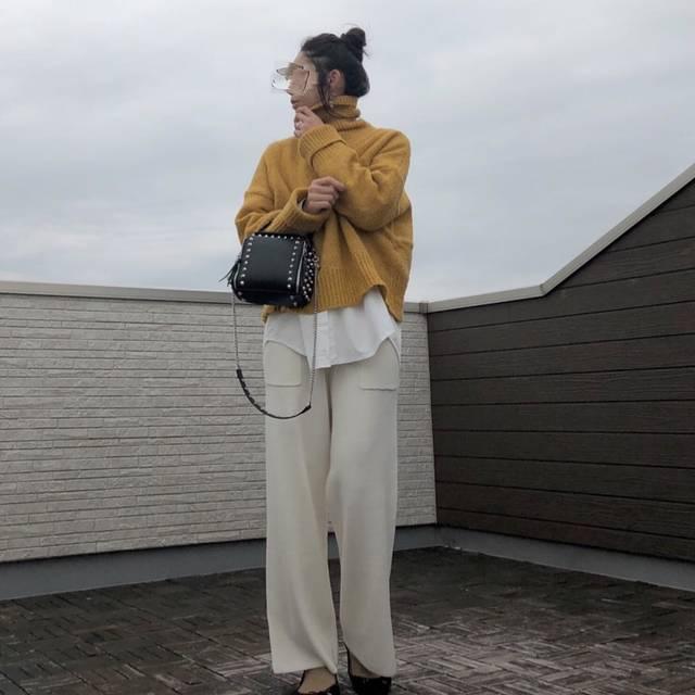 """kaochoco on Instagram: """"*** #昨日のコーデ #きのコ . . . あーさむいさむいさむいꊛ໋̝❅☃. いよいよ本気の冬到来しましたね(⚭-⚭ ). . というわけで セーターにシャツ重ねるの、始めました❅*॰ॱ. 防寒には、重ね着が有効だそう💡. 暖かい層を重ねていくのが良いんだって😊. . .…"""" (113996)"""