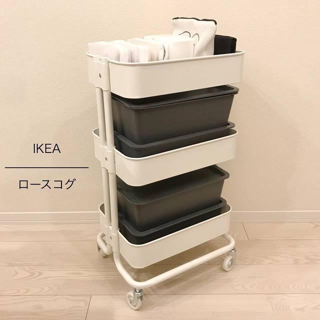 """@___minimallife on Instagram: """" わが家のベビーワゴンは IKEAのロースコグ◯ あ、IKEAですけど楽天にも売ってたのでコレしてます。  友人に教えてもらって買ったけど ほんとにめちゃくちゃ使えました◯  ハッシュタグ調べて、 みんなのベビーワゴン収納見たりして 色々収納してみました!…"""" (114544)"""