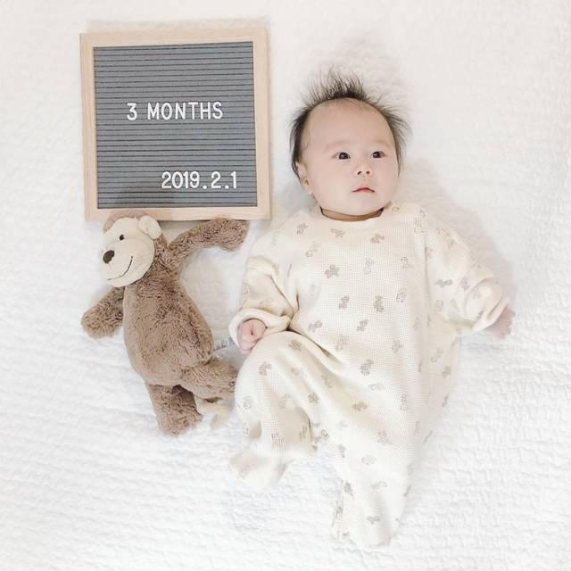 """asami on Instagram: """"ˑ ˑ 息子、あっという間に3ヶ月に✩ 抱っこも重たくなってきた! 夜寝てくれるようになったのが本当助かる。 . 何か用事するために 近くを離れると泣き出すようにもなり… これは後追いの時期どうなるかな?笑 . よく笑って毎日癒やされてます❁ ˑ ˑ…"""" (116893)"""
