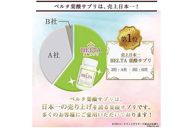 Amazon | BELTA 妊娠前・妊娠中・授乳中でも安心の酵母葉酸100%!女性に嬉しい美容成分も配合!葉酸サプリメント 妊活 ビタミンM | belta | ドラッグストア (116931)
