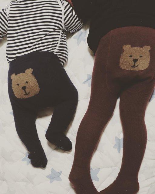 "snryu on Instagram: ""_.. 姉 ×  弟..#くまさんタイツ#きょうだい#姉#弟#3歳差育児#3歳#生後3ヶ月#赤ちゃんのいる生活#gapbaby#gapkids#おそろい"" (128774)"