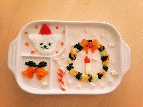 離乳食で簡単☆クリスマスプレート(中期) by まきょび⭐ 【クックパッド】 簡単おいしいみんなのレシピが318万品 (128796)