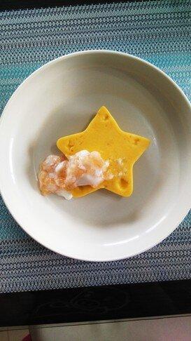 離乳食☆星型プリンパンで1才のお祝い☆