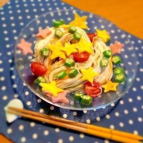 夏休みランチに七夕に*ワクワクそうめん by アイスもなか冷 【クックパッド】 簡単おいしいみんなのレシピが334万品 (132430)