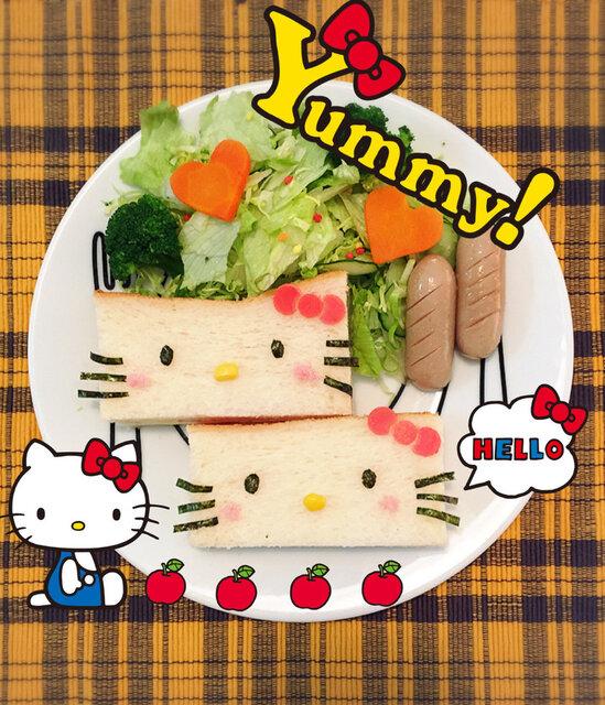 キティちゃんのサンドイッチ
