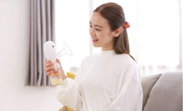 ピジョンさく乳器母乳アシスト 電動HandyFit(ハンディフィット)   ママのはじめてサポートサイト   ピジョンインフォ (137267)