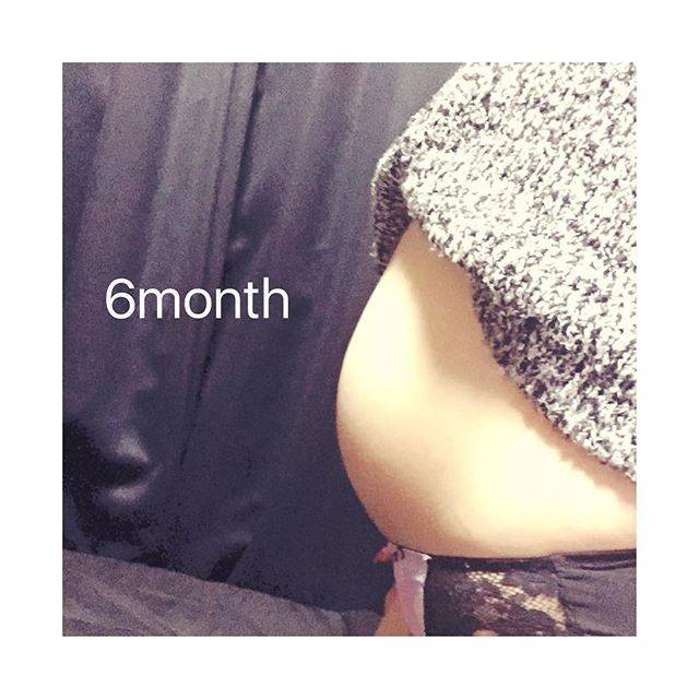 妊娠6カ月のお腹