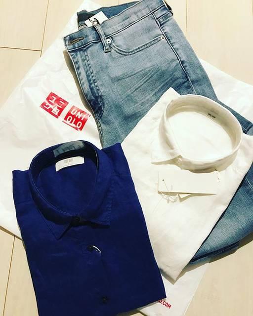 """loiloi on Instagram: """"今日は黒のセーターを買いに行ったはずなのに…全力春物getで帰ってきてしまいました…UNIQLOマジックです〜プレミアムリネンのシャツの出番は随分先になりそうです^ ^;#UNIQLO#ユニクロ#春物#プレミアムリネン#ストレッチスキニー#春よこい"""" (86405)"""
