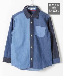 オーセンティックなデザインで着やすいデニムシャツ。...