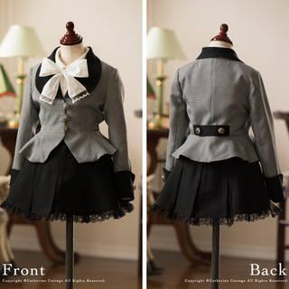 【楽天市場】卒業式 スーツ 女の子 入学式 丸衿ぺプラムスーツ2点セット (6384)