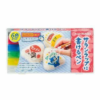 Amazon.co.jp:サランラップに書けるペン 6色セット (黒・赤・青・緑・黄・白):ドラッグストア (8851)