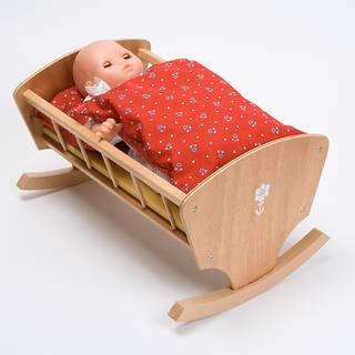 Fロッキングベッド白木(40cm):おもちゃ:百町森 (13839)