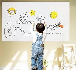 子供たちの落書き遊び、汚れ防止に。ステッカーを張るだけ...
