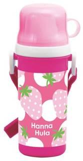 人気ブランド・ハンナフラの水筒。イチゴ柄が春らしくてキ...