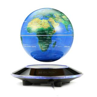 Amazon|6 inch 磁気浮上・回転型の地球儀 LEDライト (18217)