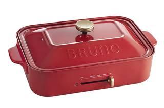 Amazon | BRUNO コンパクトホットプレート レッド (20972)