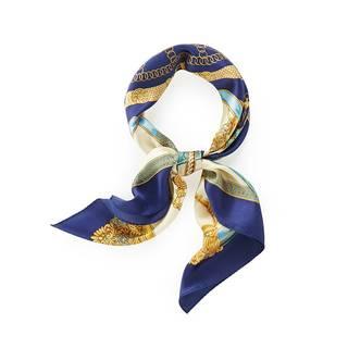Amazon | (エイサス) Asa's スカーフ シルク 大判 正方形 ストール 絹 ブルー | スカーフ 通販 (28933)
