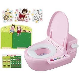 ぽぽちゃんと遊びながらトイレの練習。トイレできたらシー...