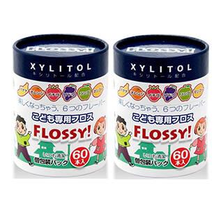 Amazon | フロッシーこども専用フロス60本 2箱セット(計120本) (31587)