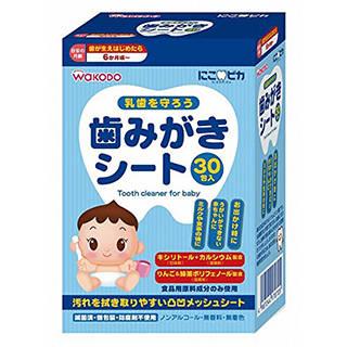 Amazon|にこピカ 歯みがきシート ベビー 30包 (31599)