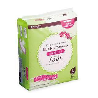 Amazon.co.jp: ダッコ お産用パッド フィール feel Lサイズ(18cm×48.5cm) 5個入 (35950)