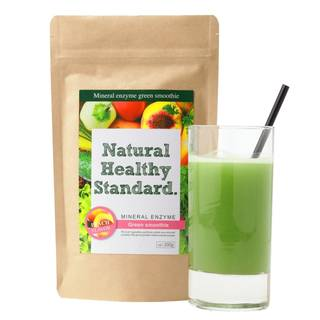 Amazon.co.jp:Natural Healthy Standard ミネラル酵素グリーンスムージー ピーチ味 200g (36954)