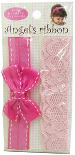 Amazon | Angel's ribbon エンジェルズリボン ヘアバンド(2ケ入) AR-ABAND001 : パパジーノ | ベビー&マタニティ オンライン通販 (42502)