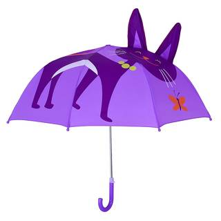 Amazon|レインブレース 耳付き キッズアンブレラ 猫 パープル (42846)