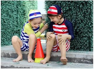 Amazon | VIVO-BINIYA 子供 水着 女の子 男の子 セパレート3点セット (43233)