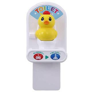 トイレの練習をするとき、アヒル隊長の音声と「おもちゃの...
