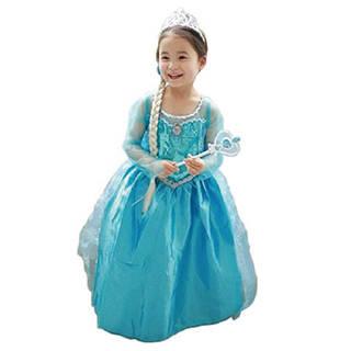 Amazon   アナと雪の女王 エルサ風ドレス4点セット (ドレス、ティアラ、スティック、ウィッグ) 110cm-120cm (44142)