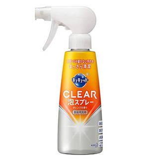 Amazon | キュキュット クリア泡スプレー 本体 オレンジの香り 300ml | 食器用洗剤 通販 (46209)