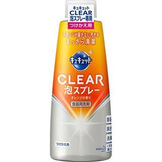 Amazon | 花王 キュキュット CLEAR泡スプレー オレンジ つけかえ用 300ML | 食器用洗剤 通販 (46213)