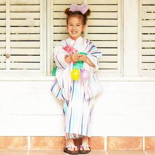 【楽天市場】レトロモダン 浴衣セット 浴衣+帯 兵児帯+下駄 3点セット (47376)