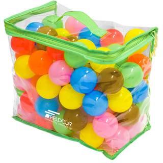 Amazon | FIELDOOR カラーボール 7色 100個入り 直径5.5cm 【やわらかポリエチレン製| おもちゃ 通販 (47979)